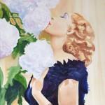 Parfum de fleurs  Huile sur toile  / 40 cm x 50 cm