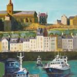 Le port de Granville  Huile sur toile / 33 cm x 55 cm