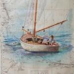 Sloop Aquarelle / 50 cm x 66 cm