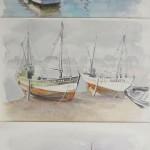 trilogie_portuaire Aquarelle / 32 cm x 70 cm