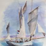 La Granvillaise Aquarelle / 65 cm x 50 cm