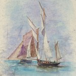 La Cancalaise  Aquarelle / 48 cm x 62 cm