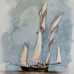 Lugger Watercolour / 24 cm x 18 cm