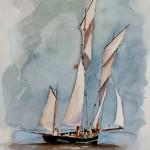 Bisquine Aquarelle / 24 cm x 18 cm
