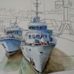 Navires école Aquarelle / 40 cm x 30 cm
